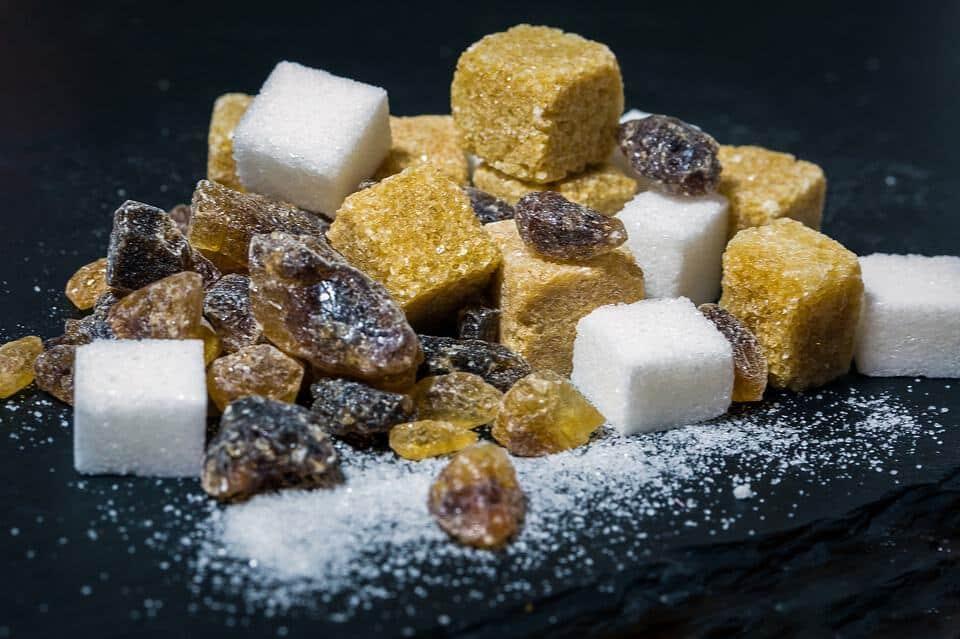 Zuckerin verschiedenen Formen